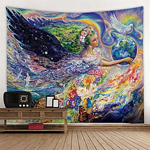 cheap Shower Heads-Classic Theme / Fairytale Theme Wall Decor 100% Polyester Modern Wall Art, Wall Tapestries Decoration
