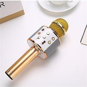 cheap Microphones-Professional Wireless karaoke Microphone Speaker Condenser Microfono with Bag Bluetooth Radio Studio Record Mic