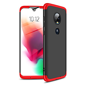 cheap Other Phone Case-Case For Motorola Moto G7 Shockproof / Ultra-thin Full Body Cases Solid Colored Hard Plastic