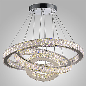 cheap Ceiling Lights-1-Light Dimmable LED Crystal Hanging Lights Modern Chandeliers Light Chandelier Ceiling Lighting Indoor Pendant Lamp Home Lamps Fixtures with Remote Control 110-120V / 220-240V