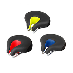 cheap Golf Clubs-Bike Saddle / Bike Seat Extra Wide / Extra Large Comfort Cushion Hollow Design PU Leather Silica Gel Cycling Road Bike Mountain Bike MTB Black Orange Green