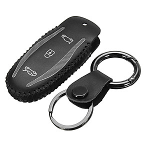 cheap Car Pendants & Ornaments-Car Remote Fob Key Stitching PU Leather Case Holder Cover For Tesla Model S