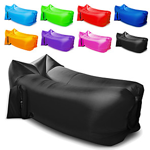cheap Sleeping Bags & Camp Bedding-Air Sofa Inflatable Sofa Sleep lounger Air Bed Design-Ideal Couch Outdoor Camping Waterproof Portable Moistureproof Oxford 260*70 cm Camping / Hiking Beach Traveling for 1 person Spring Summer Fall