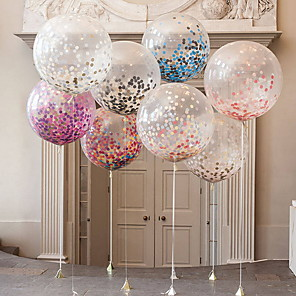 cheap Party Decoration-Unicorn Party Supplies in Metallic Gold Light Blue Balloons Gold Confetti Balloon for Birthday Baby Shower Wedding Party Decor 50pcs Not Include Rod