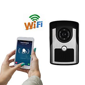 cheap Video Door Phone Systems-WIFI1001FC WIFI doorbell IP55 waterproof HD 1080P waterproof video doorbell call intercom remote unlock