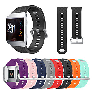 cheap Smartwatch Bands-Watch Band for Fitbit ionic Fitbit Classic Buckle Silicone Wrist Strap