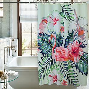 cheap Shower Curtains-Shower Curtains Modern Polyester Machine Made Waterproof Bathroom