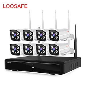 cheap NVR Kits-LOOSAFE LS-A3-720P 1 mp IP Camera Indoor Support