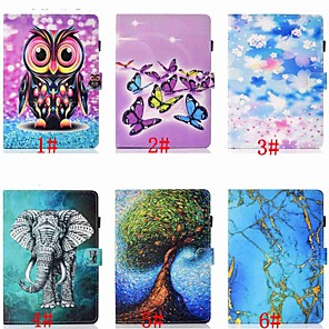 cheap Samsung Case-Case For Samsung Galaxy Samsung Tab A 10.1(2019)T510 Card Holder / Shockproof / with Stand Full Body Cases Animal / Cartoon / Tree Hard PU Leather