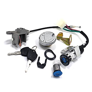 cheap Motorcycle & ATV Parts-GY6 Key Ignition Switch Lock Set For 110 150 250cc 49 50cc Chinese Moped Scooter