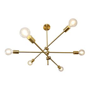 cheap Ceiling Lights-6-Light 10 cm Adjustable Chandelier Metal Sputnik / Novelty Electroplated Chic & Modern 110-120V / 220-240V