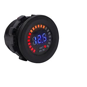 cheap Car Charger-12V Car Motorcycle Yacht Marine Color Screen Voltmeter LED Digital Display Voltmeter Instrument