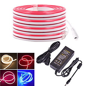 cheap Neon LED Lights-KWB 4m LED Light Strips Flexible Tiktok Lights 480 LEDs SMD3528 12mm Warm White White Red Waterproof Creative Cuttable 12 V 1 set