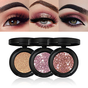 cheap Eyeshadows-6 Colors Eyeshadow Shimmer EyeShadow Matte Shimmer Mineral Glitter Shine lasting smoky Daily Makeup Halloween Makeup Cosmetic Gift