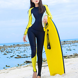 cheap Wetsuits, Diving Suits & Rash Guard Shirts-HISEA® Women's Rash Guard Dive Skin Suit 0.5mm Diving Suit UV Sun Protection Breathable Long Sleeve Back Zip - Swimming Diving Surfing Patchwork Spring Summer Fall / Winter