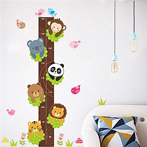 cheap Wall Stickers-Animals / Floral / Botanical Wall Stickers Animal Wall Stickers Height Stickers, PVC Home Decoration Wall Decal Wall Decoration 1pc / Removable