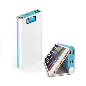 cheap Power Banks-Portable Battery Mobile Power Bank 20000 mAh USB Charger With LED Indicator And Phone Stand