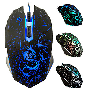 cheap Gaming Headsets-LITBest DTIME Wired USB Gaming Mouse Led Breathing Light 3200 dpi 3 Adjustable DPI Levels 6 pcs Keys