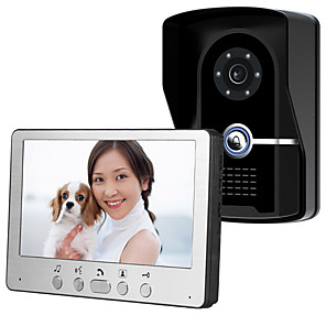 cheap Video Door Phone Systems-815FG11 Ultra-thin 7-inch wired video doorbell HD villa one for one video intercom outdoor unit night vision rain unlock function