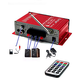 cheap Amplifiers & Effects-Car Bluetooth USB FM Power Amplifier Household 12V 3A Mini Hi-Fi Stereo Audio AMP with Remote Control Support FM/MP3/SD/USB/DVD