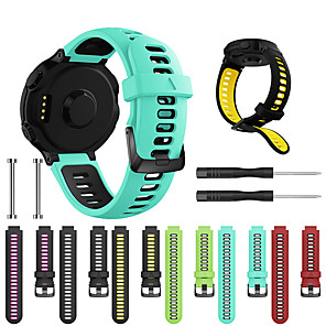 cheap Smartwatch Bands-Watch Band for Forerunner 735 / Forerunner 630 / Forerunner 620 Garmin Sport Band / Classic Buckle / DIY Tools Silicone Wrist Strap