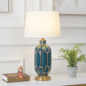 cheap Table Lamps-Table Lamp Modern Contemporary For Bedroom Study Room Office Ceramic 220V
