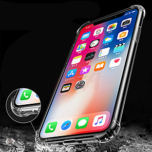 cheap iPhone Cases-Case For iPhone XS Max  XS Shockproof Covers Clear Soft Silicone TPU Coque for iPhone XR 8 Plus 8 7 Plus 7 6 Plus 6