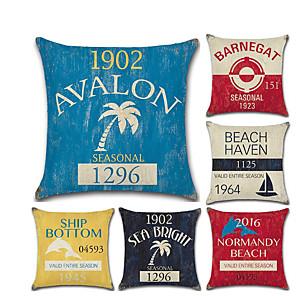cheap Sale-1 pcs Linen Pillow Cover, 3D Contemporary Classic Fashion Throw Pillow
