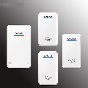cheap Doorbell Systems-Doorbell wireless household battery DC power all-purpose battery unplugged wireless doorbell three drag one waterproof