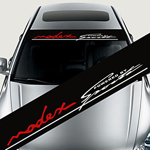 cheap Car Audio-1# / 2# / 3# Car Stickers Individuality Windshield Stickers Text / Number Stickers