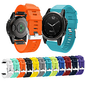 cheap Smartwatch Bands-Watch Band for Fenix 5s / Fenix 5s Quickfit Garmin Sport Band Silicone Wrist Strap