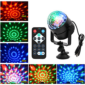 cheap Stage Lights-KWB 1 set 6 W 4000-5000 lm 5 LED Beads Remote Control / RC Dimmable Adorable LED Stage Light / Spot Light RGB 100-240 V