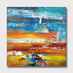 cheap Abstract Paintings-Oil Painting Hand Painted Abstract Modern Rolled Canvas Rolled Without Frame