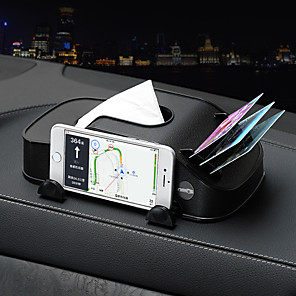 cheap Car Organizers-Car Tissue Box Multi-function Mobile Phone Bracket Inserter Auto Tissue Box Container 3 in 1 Paper Holder