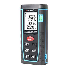 cheap Level Measuring Instruments-SNDWAY SW-T100 laser distance meter laser rangefinder 100m 328ft trena Laser range finder Building measure tape Ruler Tool