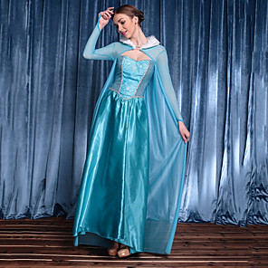 cheap Movie & TV Theme Costumes-Elsa Dress Cosplay Costume Women's Movie Cosplay Cosplay Halloween Blue Dress Christmas Halloween Carnival Tulle