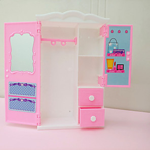 cheap Dolls Accessories-Doll accessories Dollhouse Accessory Furniture Princess Mirrored Wardrobe Plastic For Barbie Doll with Clothes and Accessories for Girls' Birthday and Festival Gifts / Kid's