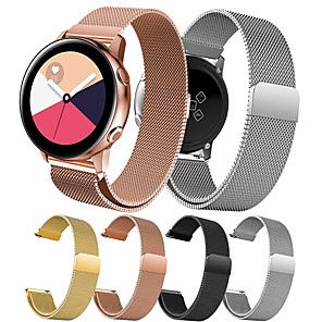 cheap Smartwatch Bands-Watch Band for Gear S2 / Samsung Galaxy Watch 42mm / Samsung Galaxy Active Samsung Galaxy Milanese Loop Stainless Steel Wrist Strap