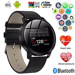 cheap Smartwatches-A18 Stainless Steel Smartwatch BT Fitness Tracker Support Notify/ Blood Pressure Measurement Sports Smart watch for Samsung/ Iphone/ Android Phones