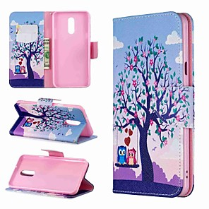 cheap Other Phone Case-Case For LG LG Stylo 4 / LG Stylo 5 / LG K10 2018 Wallet / Shockproof / with Stand Full Body Cases Animal / Tree Hard PU Leather