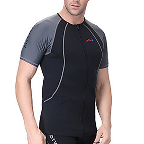 cheap Wetsuits, Diving Suits & Rash Guard Shirts-Dive&Sail Men's Rash Guard 1.5mm Elastane Neoprene Thermal / Warm SPF50 UV Sun Protection Short Sleeve Swimming Diving Surfing Patchwork / Breathable / Quick Dry / Breathable / Quick Dry