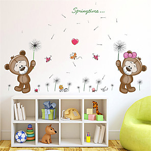 cheap Wall Stickers-Animals / Floral / Botanical Wall Stickers Plane Wall Stickers Decorative Wall Stickers, PVC Home Decoration Wall Decal Wall Decoration 1pc / Removable