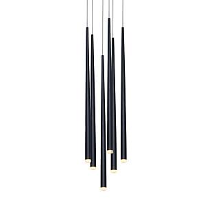 cheap Pendant Lights-6-Light Modern Chandelier Light Hanging Lamp Stair Lighting LED for Dinning Room Office Living Room Adjustable Creative 110-120V / 220-240V Warm White / White/ 6 Lights