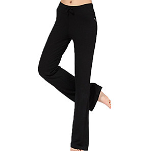 cheap Exercise, Fitness & Yoga Clothing-Women's High Waist Yoga Pants Pants / Trousers Breathable Quick Dry Black Gray Modal Running Fitness Sports Activewear Micro-elastic Loose