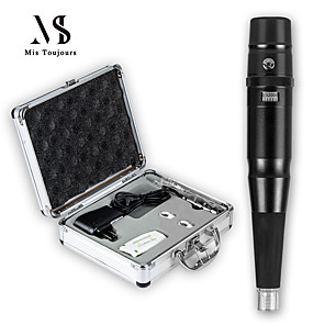 cheap Permanent Makeup Machines-Permanent Makeup Machine Kit With Pro Box Microblading Machine Black Tattoo Pen Tattoo needles and Tips Cosmetics For Tattooing
