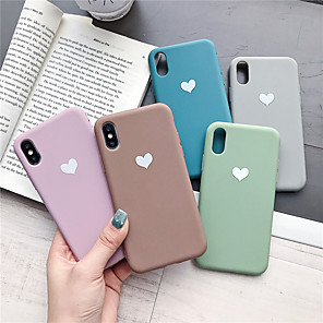 cheap iPhone Cases-Case For Apple iPhone XR / iPhone XS Max Pattern Back Cover Heart Soft TPU for iPhone X XS 8 8PLUS 7 7PLUS 6 6PLUS 6S 6S PLUS