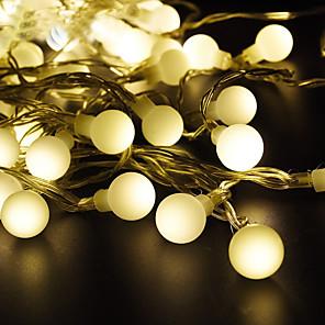 cheap LED String Lights-3XAA Battery Led Globe String Light 5M 50LEDs LED Outdoor Party Decoration Christmas GardenHoliday lighting