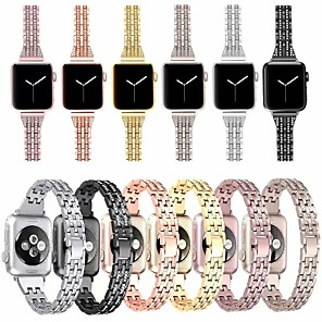 cheap Smartwatch Bands-Watch Band for Apple Watch Series 5/4/3/2/1 Apple Jewelry Design Stainless Steel Wrist Strap