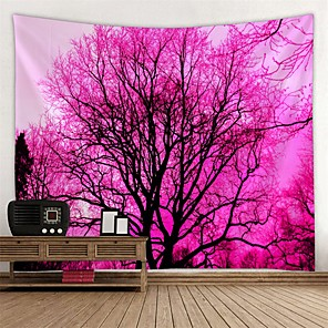 cheap Wall Stickers-Garden Theme / Floral Theme Wall Decor 100% Polyester Modern Wall Art, Wall Tapestries Decoration