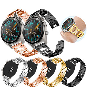 cheap Smartwatch Bands-Watch Band for Huawei Watch GT / Huawei Watch 2 Pro Huawei Sport Band / Jewelry Design Stainless Steel Wrist Strap